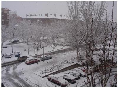 Nieve en TresCantos...
